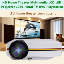 лучшая цена Professional YG400 1200 LM HD LED Video Projector Home Cinema 3D Effect 1080P-HDMI Multimedia Player Digital Projector