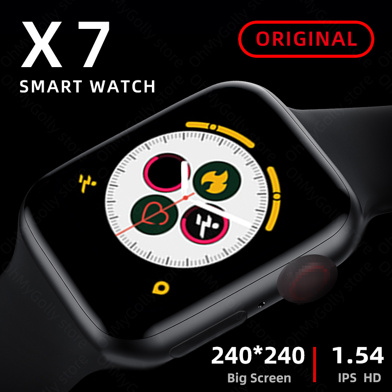 Montre intelligente iwo X7 série 6 Bluetooth appel fréquence cardiaque Fitness Tracker Smartwatch pour Android IOS pk amazfit iwo 12 W26 FT50 X6