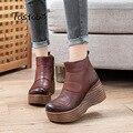 Женские туфли-лодочки из натуральной кожи; Botas Feminina; Женские ботильоны; Модные женские ботинки; Botas Mujer; 20921