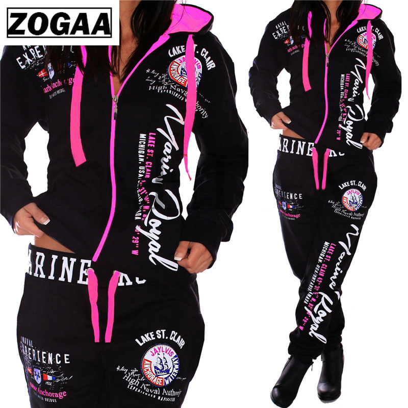 ZOGAA Fashion Tracksuit For Women S-3XL Brand New Women's Casual Sportwear Hooded Sweatshirt And Pants Women's Suit