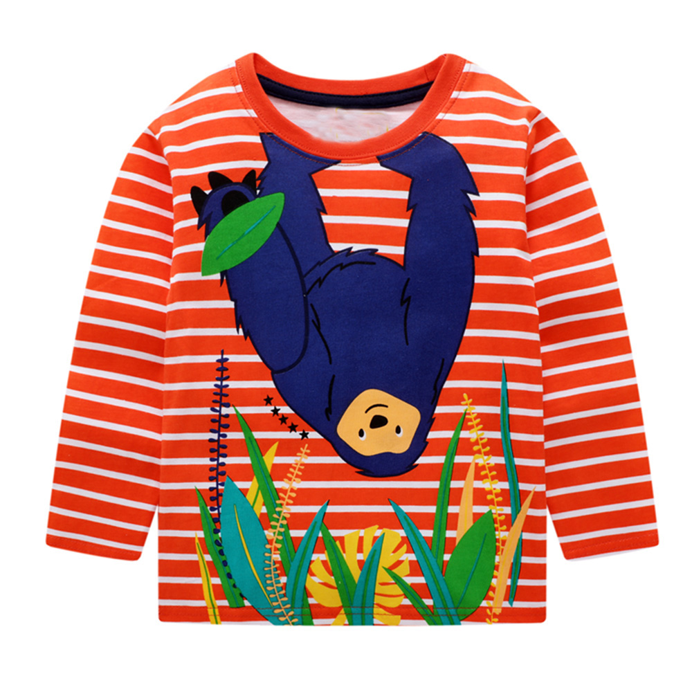 Baby Boys T shirts for Kids Clothing Autumn Winter Children T shirt for Boy Clothes Animal Pattern Toddler Tops Tee Shirt Fille 3