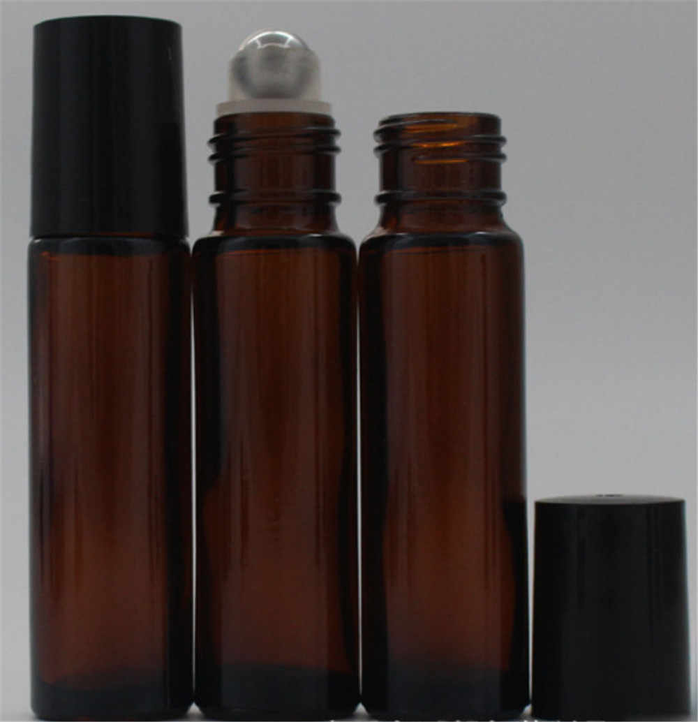 10ml cam şişe üzerinde rulo uçucu yağ parfüm rulo topu şişesi