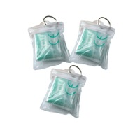 50pcs/lot Portable Cpr Resuscitator Mask With PVC bag Waterproof package Face Shield Safe First Aid Breathing Mask Swimming pool