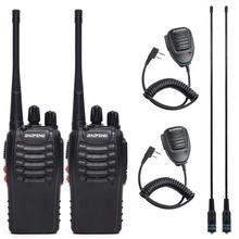 Baofeng BF 888S Walkie Talk UHF двухстороннее радио BF888S ручной CB радио набор 888S Comunicador передатчик приемопередатчик + гарнитура