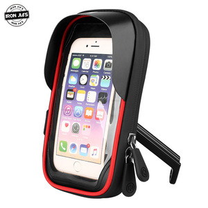 IRON JIA'S Motorcycle Navigation Holder 6.4-inch Mobile Phone Case Holder Bag Waterproof Touch Screen Moto Navigation Holder