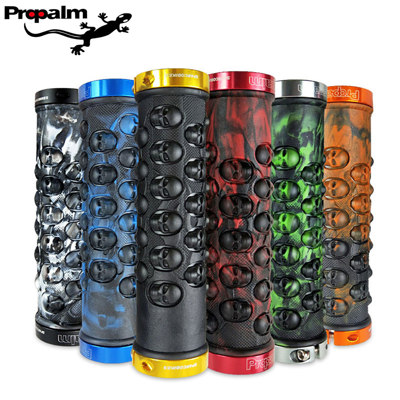 Propalm Bicycle Grips Anti-Skid Comfortable Rubber Bike Handlebars Grips Lock-on Mountain Road Bike Handle Bar Grips For Cycling