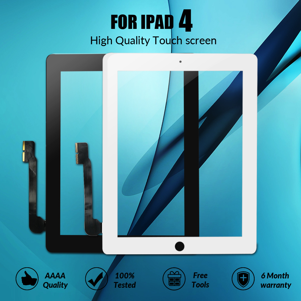 "9.7"" Touch Screen For IPad 4 A1458 A1459 A1460 Touch Screen Replacement Digitizer Sensor Glass Panel For IPad 4 LCD Outer"