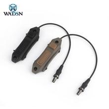 Wadsn airsoft surefir m300 m600 scout luz botão duplo interruptor de fita caça rifle interruptor aumentado para keymod m-lok picatinny