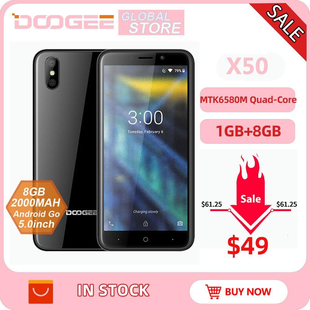 Фото. 2018 Новый DOOGEE X50 мобильного телефона Android Go MTK6580M Quad-Core 1 Гб Оперативная память 8 GB
