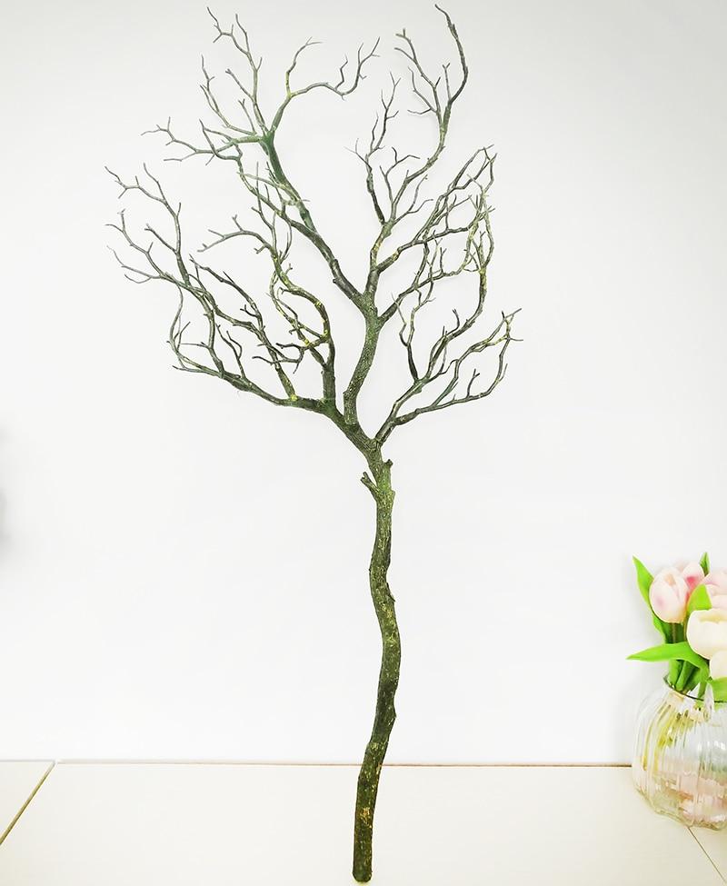 1 шт. искусственные черно-белые ветви деревьев пластик Коралл искусственные цветы для дома свадебные декоративные сушеные ветви деревьев H90CM - Цвет: Армейский зеленый