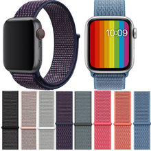 Banda para Apple Watch Series 3/2/1 38MM 42MM Nylon suave transpirable correa de repuesto deportivo bucle para serie iwatch 4 40MM 44MM(China)