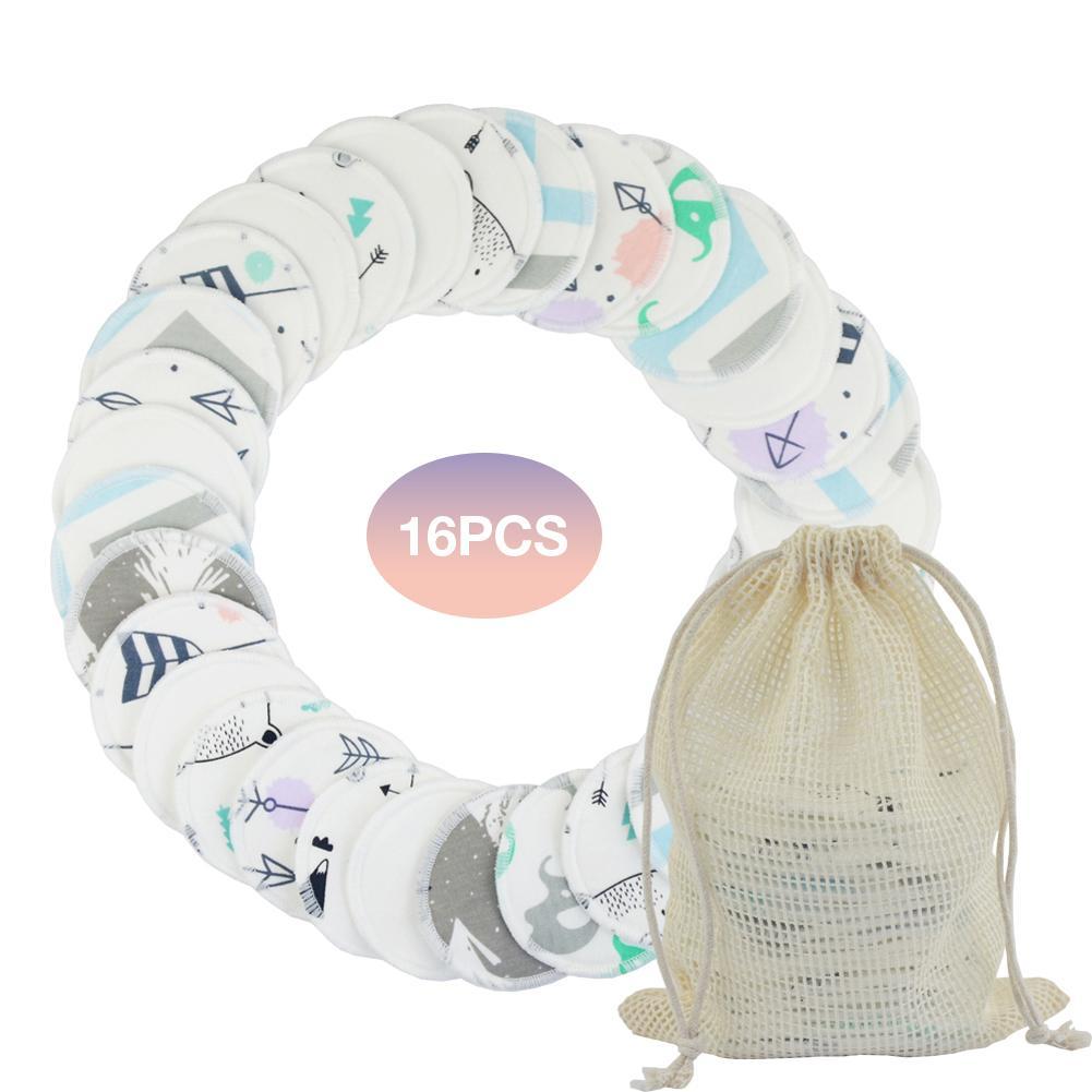 16 pcs set reutilizaveis almofadas de algodao removedor de maquiagem rosto pad cleaner limpe pads nail