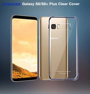 Image 3 - 100% Оригинальный чехол для телефона Samsung Galaxy S8 + S8 Plus G9550 SM G9 SM G955 GALAXY S8 Прозрачный жесткий чехол 6 видов цветов