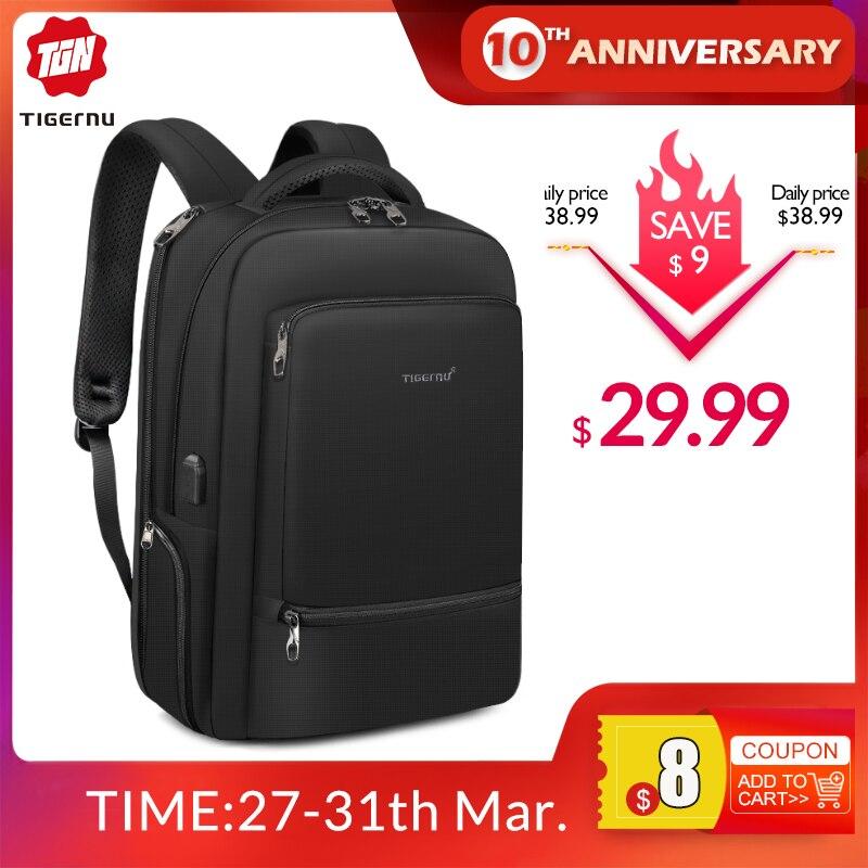 Tigernu Waterproof Nylon Travel Backpack Men's Backpacks For 15.6