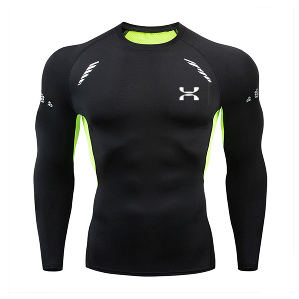 Men Underwear Basic Tops Undershirt T-shirt quick dry jogging Training base layer shirt Fitness long sleeve Compression tights