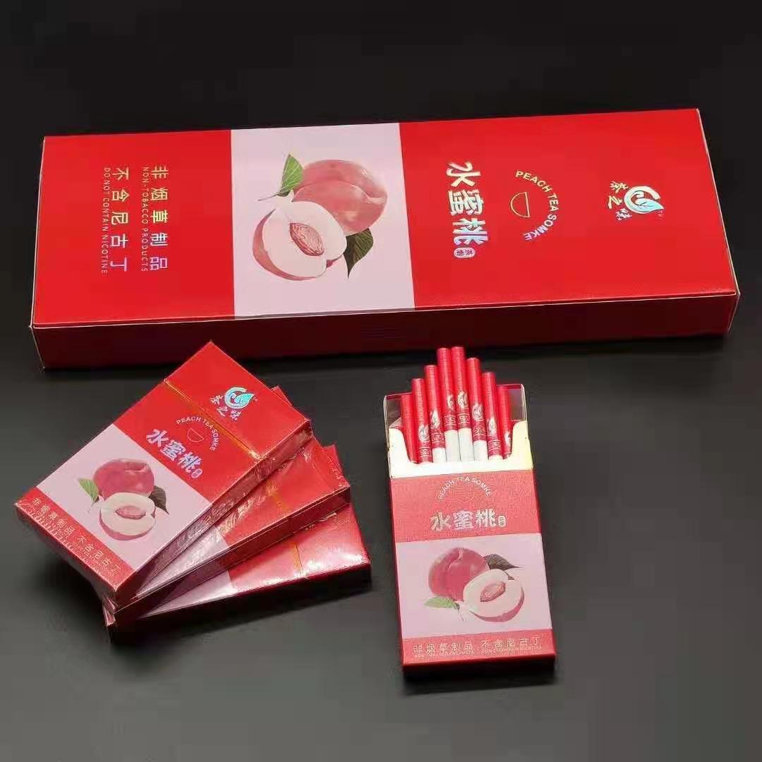 New Blueberry Cherry Apple Herbal Tea Smoke Healthy Cigarettes No Nicotine Tobacco Fruit Tea