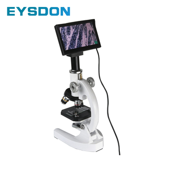 40X - 2000X Monocular Biological Microscope With 5 Inch Electronic Eyepiece Display Screen
