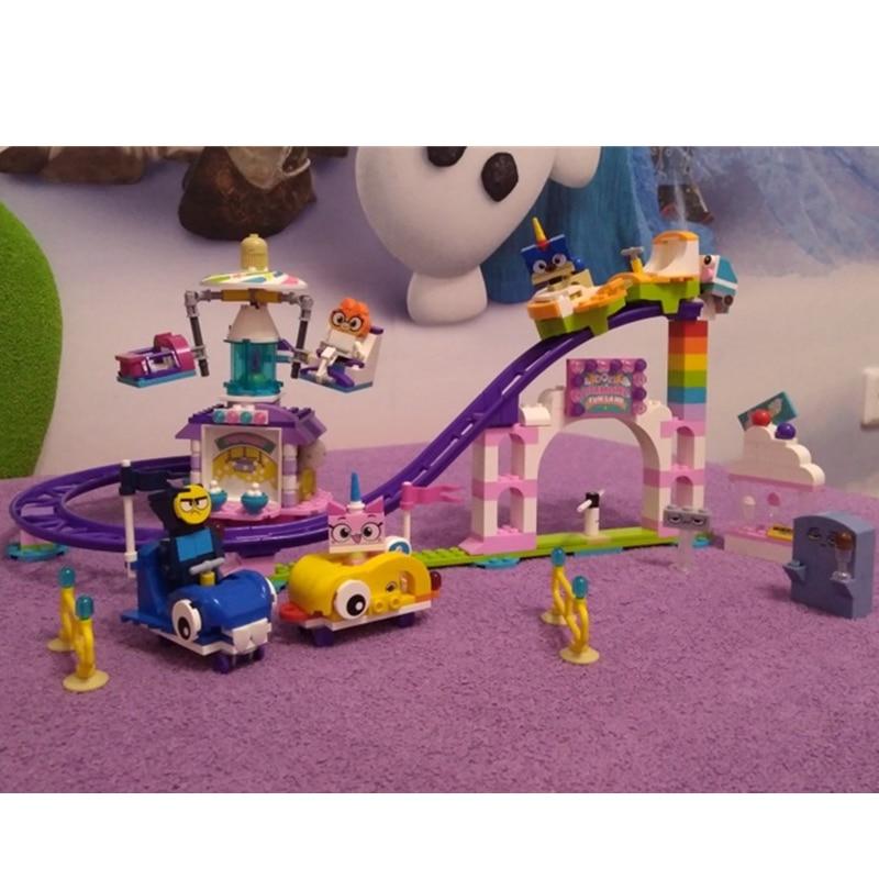 NEW Big Movie Cartoon Unikitty Cat Unikingdom Fairground Fun Box Building Block Bricks Kits Toys Compatible Friends 41456 in Blocks from Toys Hobbies