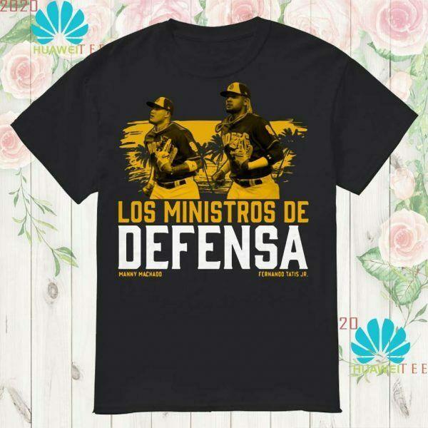Fernando Tatis Jr Manny Machado Los Ministerio De Defensa T Shirt Men Black