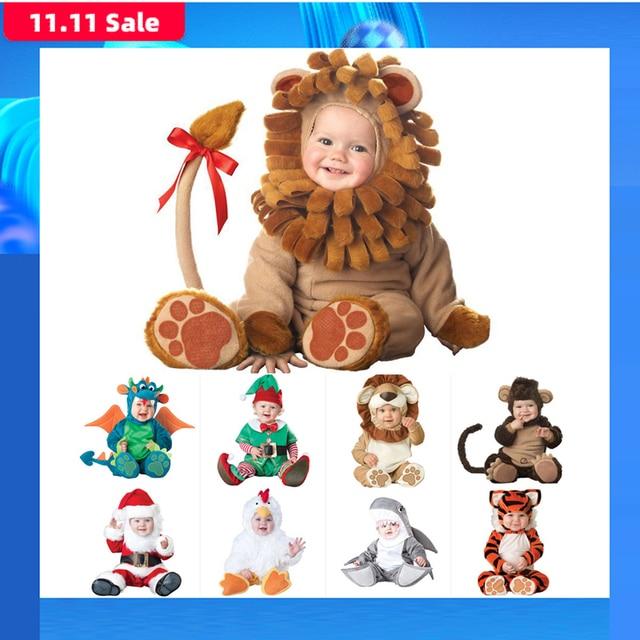 2020 Carnevale di Halloween Attrezzature Del Bambino Del Bambino Delle Ragazze Dei Ragazzi Costume di Cosplay Animal Body E Pagliaccetti Tuta per I Più Piccoli Vestiti Infantili