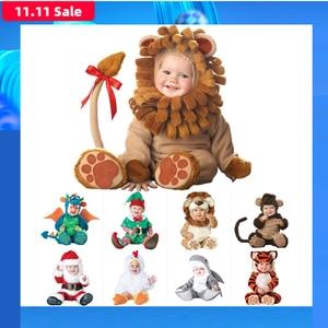 Image 1 - 2020 카니발 할로윈 의상 아기 소년 소녀 의상 동물의 코스프레 rompers 점프 슈트 유아 유아 의류