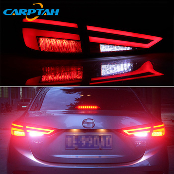 Car Styling Taillight Tail Lights For Mazda 3 Axela 2014 - 2018 Rear Lamp DRL + Dynamic Turn Signal + Reverse + Brake LED Light