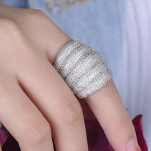 LARRAURI Trendy Charms AAA Ball Cubic Zirconia Rings Female Dubai Wedding Party Ring For Women Jewelry Bagues Anillos 2019 цена и фото