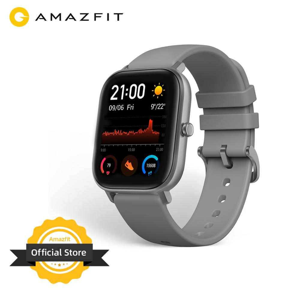 Global Version Amazfit GTS Smart Watch 14 Days Battery 5ATM Waterproof Swimming Smartwatch  Music Control For Android IOS 2019