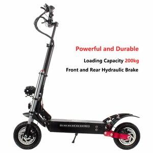 Электрический скутер с двойным приводом 52 в 2000 Вт С сидением для взрослых складной электрический мотоцикл 60 км/ч с батареей Panasonic