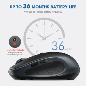 Image 4 - VicTsing PC254 Wireless Mouse 2400DPI Adjustable Portable Bluetooth Mouse 2.4Ghz USB Optical Cordless Mice For PC Tablet Laptop
