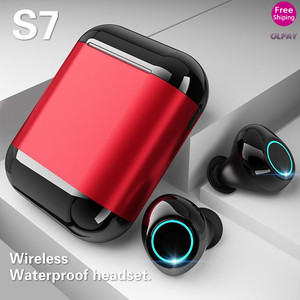 New S7 TWS Bluetooth Earphone HiFi Headphone Wireless In-ear Waterproof Noice Cancelling Headphone Sport Headset for IOS Android