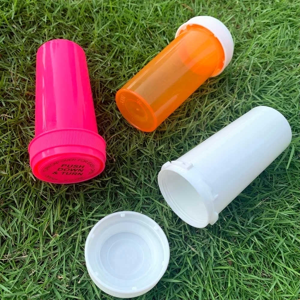 HORNET 20Dram Push Down & Turn fiolka pojemnik tworzywo akrylowe Stroage Stash Jar butelka na pigułki Case pudełko tytoniu pojemnik na zioła