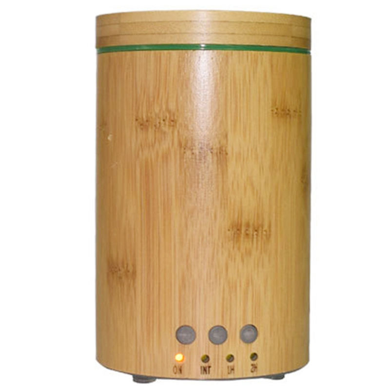 150Ml Bamboo Air Humidifier Aroma Essential Oil Diffuser with 7 Color LED Lights Aromatherapy Diffusers Office Home US Plug|Humidifiers| |  - title=