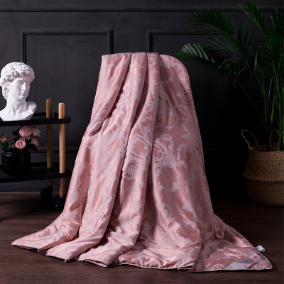 luxury Modal silk comforter blanket 150 200cm quilt Sheets gift bedspread duvet cover summer winter large handmade bed cover in Quilts from Home Garden