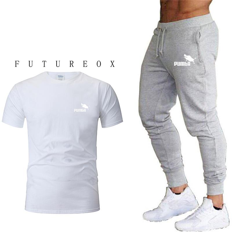 2020 Summer Brand Men's Sportswear Men's Sweatshirt Suit Fashion Casual Sportswear Suit Men 2 T-shirt + Pants