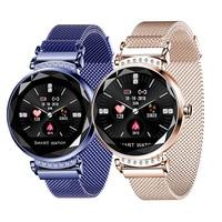Frauen Smart Armband H2 Mode Uhr Fitness Tracker Sport Band Blutdruck Monitor Weibliche physiologischen Gesundheit Armband-in Intelligente Armbänder aus Verbraucherelektronik bei