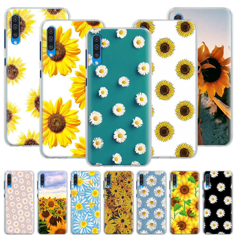 Cute Summer Daisy Sunflower <font><b>Floral</b></font> Flower <font><b>Case</b></font> for <font><b>Samsung</b></font> Galaxy A50 A70 A51 A71 5G A10 A10e A20 A30 <font><b>A40</b></font> A11 A31 A21 A91 Hard C image