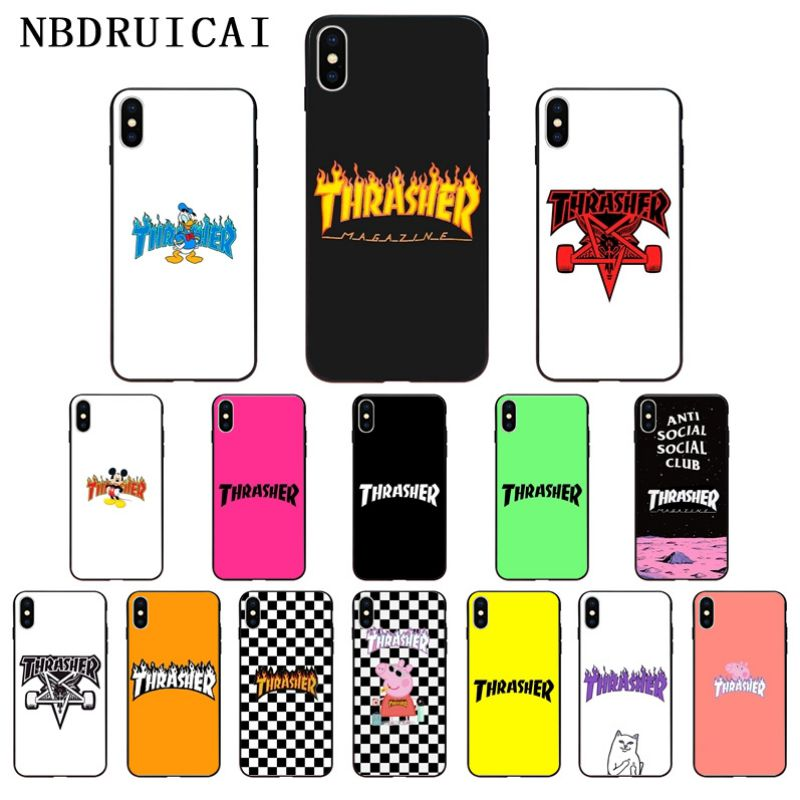 NBDRUICAI Street Fashion Skateboard Flame Personality Phone Case For IPhone 11 Pro XS MAX 8 7 6 6S Plus X 5 5S SE XR Case