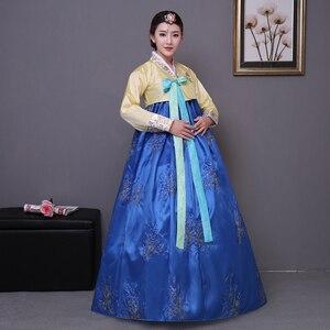 Image 2 - Cekinowy koreański tradycyjny strój hanbok kobieta Korea pałac kostium hanbok sukienka narodowa odzież do tańca na pokaz sceniczny 89