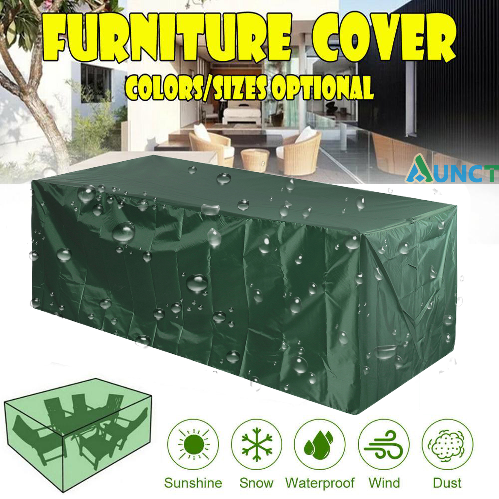 17 Sizes Waterproof Outdoor Patio Garden Furniture Covers 210D Rain Snow Chair covers Sofa Table Chair Dust Proof Cover Green