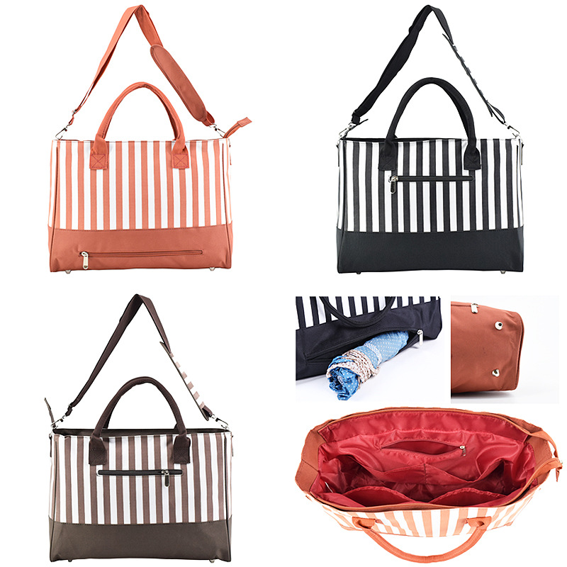 Multi-functional Mummy Bag Stripes Large-Volume MOTHER'S Bag Can Hang-Back Can Put Umbrella Pregnant Women Bag