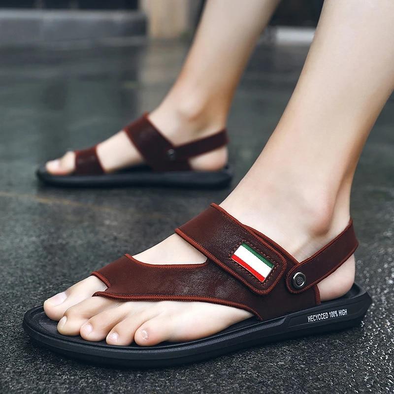 Men/'s Summer Sandals Beach Comfort Flip Flops Flat Shoes Casual Outdoor Slippers