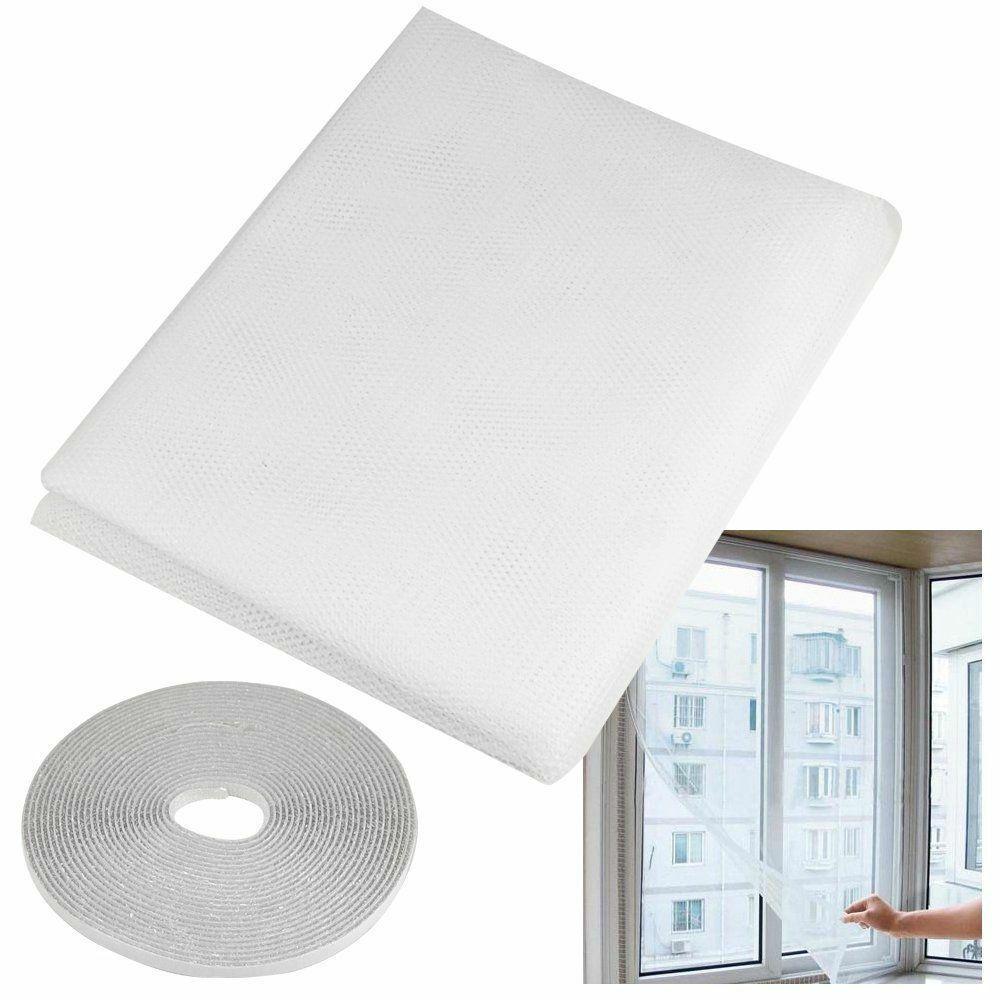 150x200cm Black Flying Curtain Insect Netting Mesh Self-adhesive Mosquito Net Window Window Screen Anti-mosquito Door Fly Nets