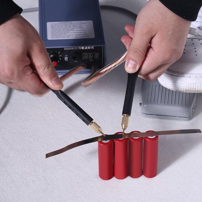 Tools : 5000W Battery Spot Welder Kit Welding Tools Portable Adjustabl Spot welding Machine 0 2MM Nickel strip for DIY 18650 Battery