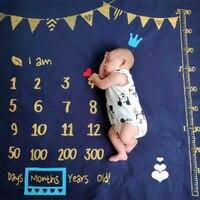 Bebé recién nacido manta para fotografía logro mensual conmemorativo fotos colgando Fondo estandarte de tela para fotografía