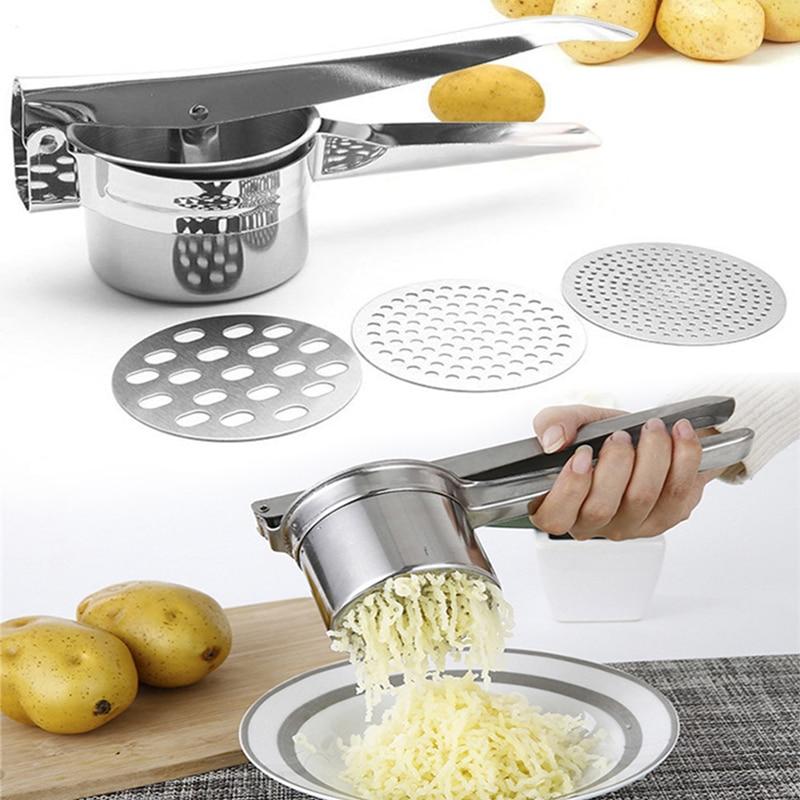 Кухонные приспособления для приготовления картофельной пищи, прижимная машина из нержавеющей стали для приготовления грязи, пюре, овощей, ...