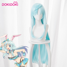 DokiDoki Anime Cosplay Wig From Commonplace to Worlds Strongest Shia Haulia Women Long Blue Straight Hair