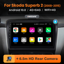 AWESAFE PX9 for Skoda Superb 2 2008-2015 Car Radio Multimedia video player GPS No 2din 2 din Android 10.0 2GB+32GB