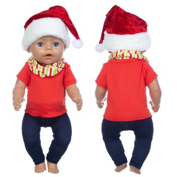 2020 New Christmas suit Doll Clothes Fit For 18inch/43cm born baby clothes reborn Accessories