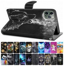 Para el caso de Huawei Honor 6A 6C Pro Honor 7X 7S Flip cubierta de libro de cuero teléfono caso lindo Coque Lobo tigre león perro gato Torre DP08F